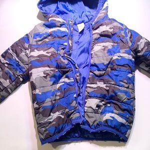 Gymboree Puffy Jacket Blue Camouflaged Size 2T